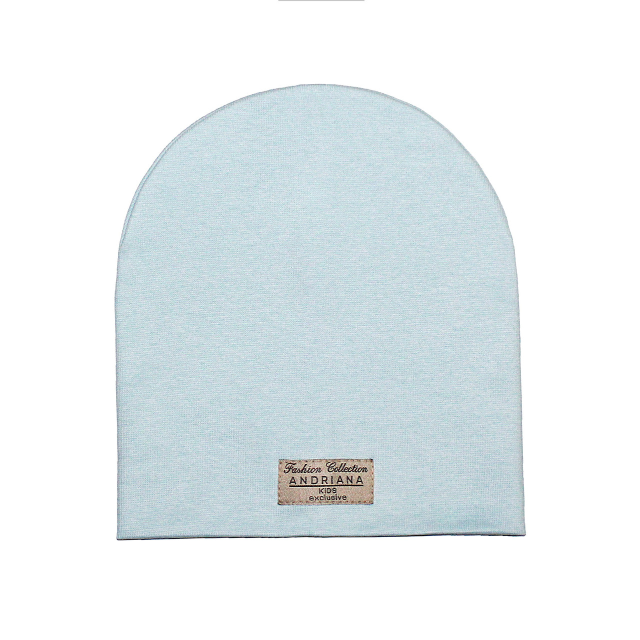 Двойная шапочка 44-46,48-50,52-54 см. Andriana Kids светло-голубая