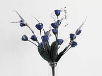 Букет Роз / 0,32 м / 18 цветков / Синий