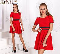 Короткое повседневное платье (черное, красное)
