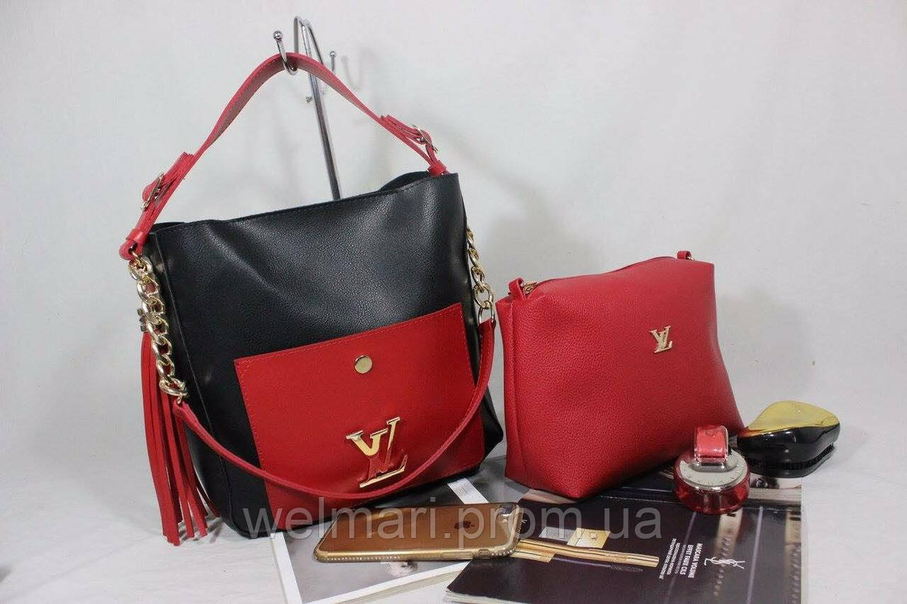 6e1546236be7 Женская стильная сумка + клатч (расцветки) - Wel_Mari интернет-магазин  женской одежды оптом