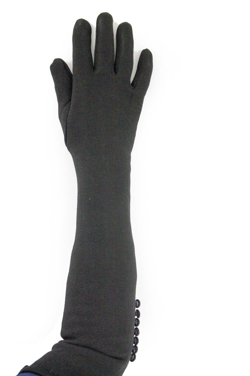 Женские перчатки стрейч  длинные МАЛЕНЬКИЕ