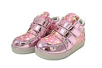 Светящиеся кроссовки детские диодная платформа 21 размер