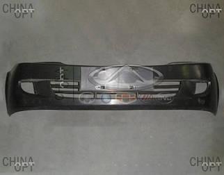 Бампер передний, пластик, черный, не крашеный, Lifan 520 [Breez, 1.3], L2803011A1, Aftermarket