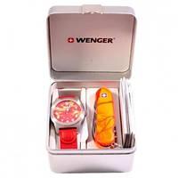 Набор: Нож и часы Wenger 01.0441.111