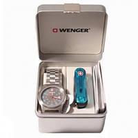 Набор: Нож и часы Wenger 01.0441.104