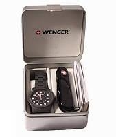 Набор: Нож и часы Wenger 01.0441.102
