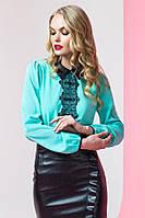 Элегантная женская блузка с кружевным принтом