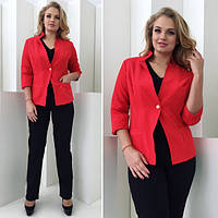 Женский пиджак рукав 3/4, размеры 48-52 (разные цвета)