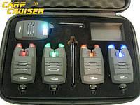 Carpcruiser FA214-4 Набор Электронных Беспроводных Сигнализаторов Поклевки с системой анти вор,радио пейджером