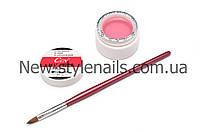 Уф гель для наращивания ногтей CCN прозрачно-розовый (LIGHT-PINK) 15 ml(0.5 OZ), фото 1