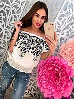 Стильная блузка с вышивкой