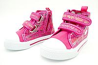 Детские текстильные кеды Clibee для девочек 20-25 размер 24-15,5 см