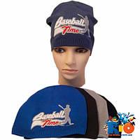 Детская трикотажная шапка, для мальчика р-р 52-54