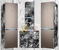 Дизайнерские наклейки на холодильник абстракция