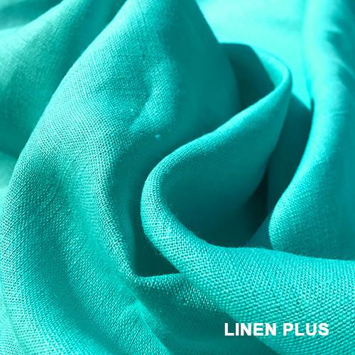 Бірюзова лляна тканина 100% льон, колір 700