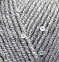 Турецкая пряжа Alize Superlana Midi Pullu для ручного вязания полушерсть серый меланж №21