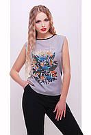 футболка GLEM Цветы-птицы футболка Киви б/р