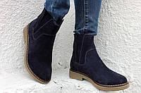 Женские замшевые ботинки на низком ходу. Возможен отшив в других цветах кожи и замша