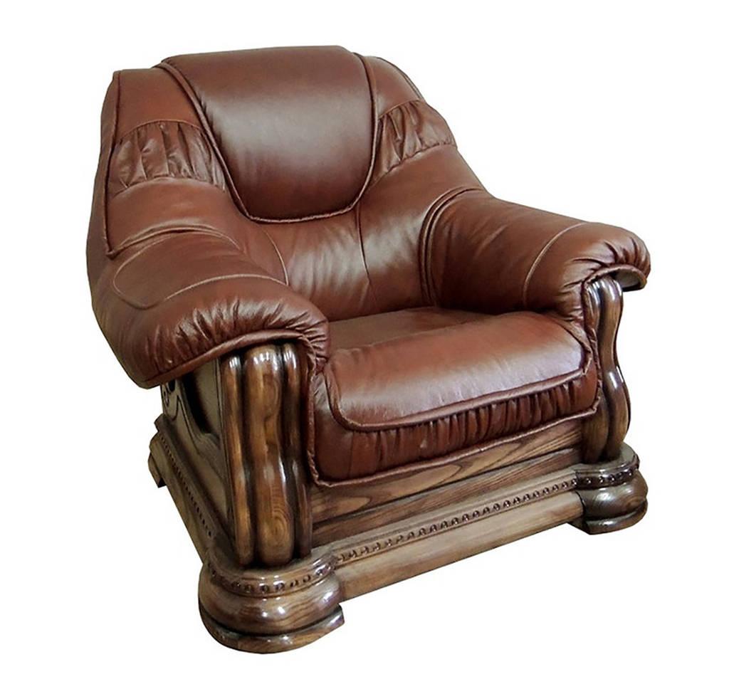 Классическое кожаное кресло Grizzly HUP (110 см)