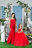 """Комплект нарядных платьев """"Мама и дочка"""" 1820 - индивидуальный пошив"""