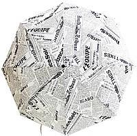 Зонт женский с принтом  газета      , фото 1