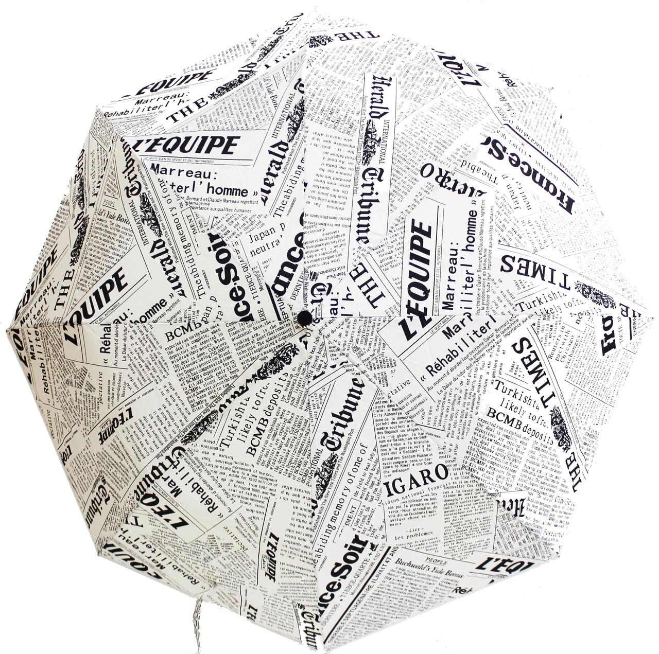 Зонт женский с принтом  газета