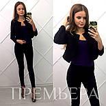 Женский стильный замшевый костюм: жакет и брюки в расцветках, фото 4