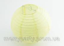 Подвесной бумажный шар плиссе 20 см молочный