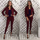 Женский стильный замшевый костюм: жакет и брюки в расцветках, фото 5