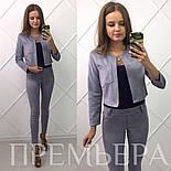Женский стильный замшевый костюм: жакет и брюки в расцветках, фото 6