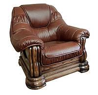 Классическое кожаное кресло Гризли Курьер (100 см)