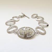 Браслет GIVENCHY ювелирная бижутерия покрытие родий кристалл Swarovski