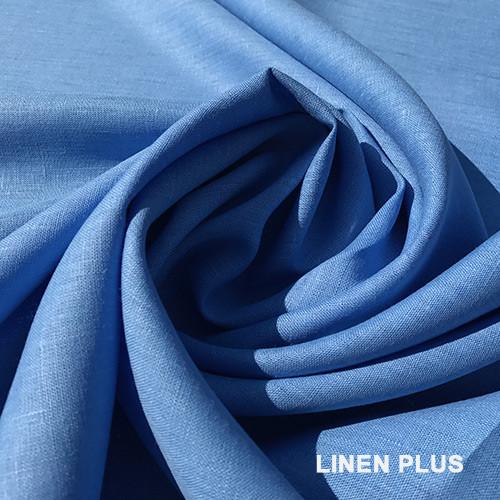 Голубая льняная ткань 100% лен, цвет 1278