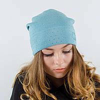 """Женская шапка, LaVisio """"Нинель"""" с камнями (мята)"""