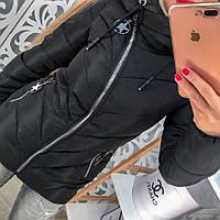 Куртка женская наполнена синтепоном (черная)