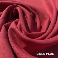 Коралловая льняная ткань 100% лен, цвет 1321