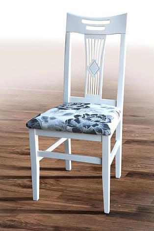 Стул кухонный Юля  (твёрдая спинка) Микс мебель, цвет белый, фото 2
