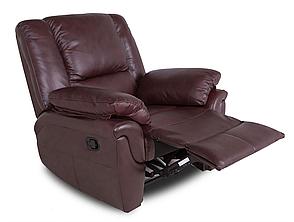 Кожаное кресло реклайнер ALABAMA, 0326 (98 см), фото 2