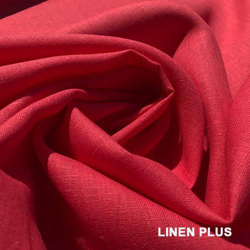 Коралловая льняная ткань 150ш. 185пл., цвет 1140
