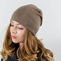 """Женская шапка, LaVisio """"Нинель"""" с камнями (т.мокко)"""