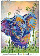 """""""Веселый слоненок"""".  Схема для вышивки бисером"""