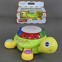 """Музыкальная, Развивающая Игрушка """"Веселая черепаха"""" 596 (18)  англо-испанское озвуч., музыка, свет, на батарейке, в коробке"""
