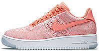 Женские кроссовки Nike Air Force 1 Flyknit Low Atomic Pink