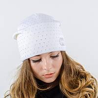 """Женская шапка, LaVisio """"Нинель"""" с камнями (белый)"""