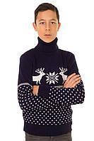 Вязаный свитер Бемби темно-синий