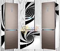 Дизайнерские наклейки на холодильник 3Д