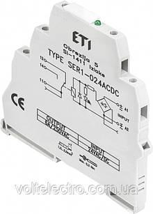 Електромеханическое интерфейсное реле  SER1-024ACDC