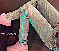 Женские спортивные штаны Adidas c лампасами 42-52р
