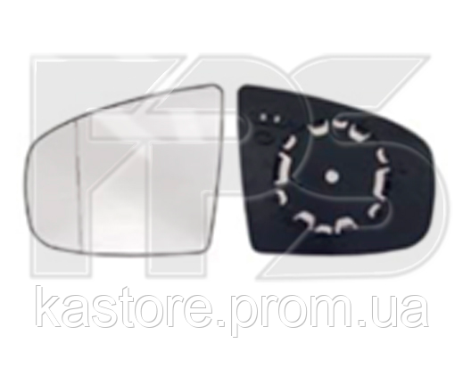 Вкладыш зеркала правый с обогревом асферический BLUE 4pin X5 E70
