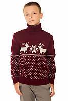 Вязаный свитер Бемби бордовый